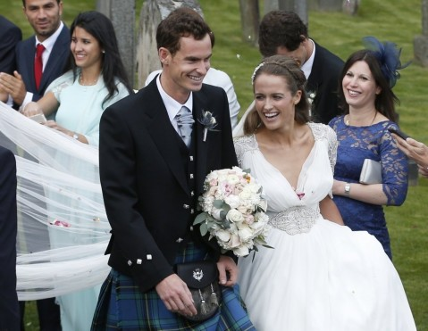 Andy Murray Kim Sears Get Married Andy Murray