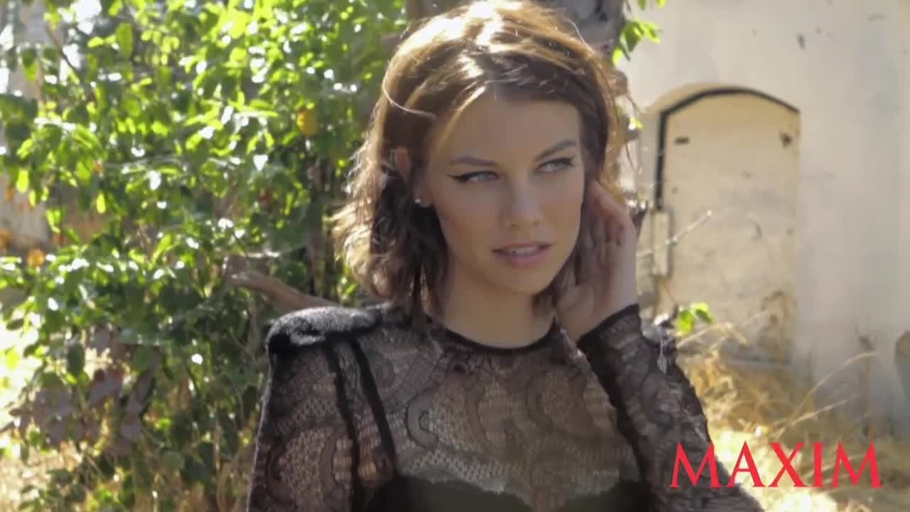 Lauren Cohan Maxim Behind The Scenes Photo Shoot