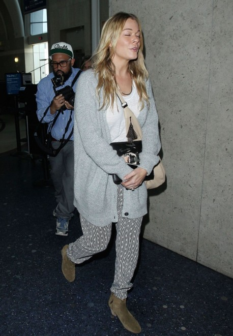 Leann Rimes Departing On Flight At Lax Airport In Los Angeles