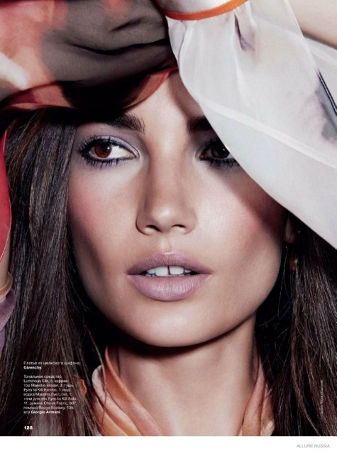 Lily Aldridge Makeup Shoot Fashion