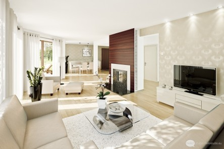 Luxurious Interir Home Design Idea With White Concept And With White Sofa