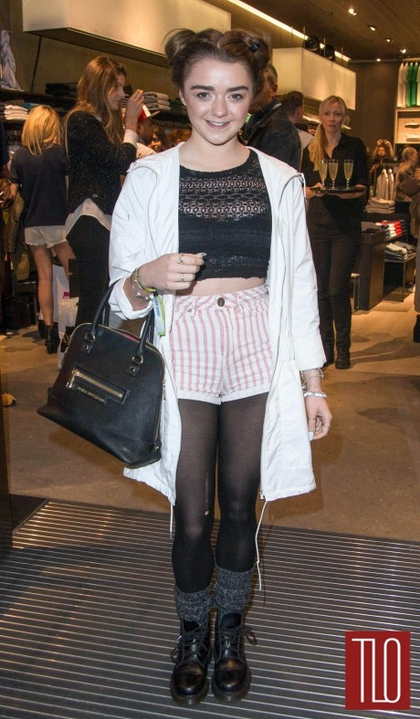 Maisie Williams Lacoste Store Reopening London Tom Lorenzo Site Tlo
