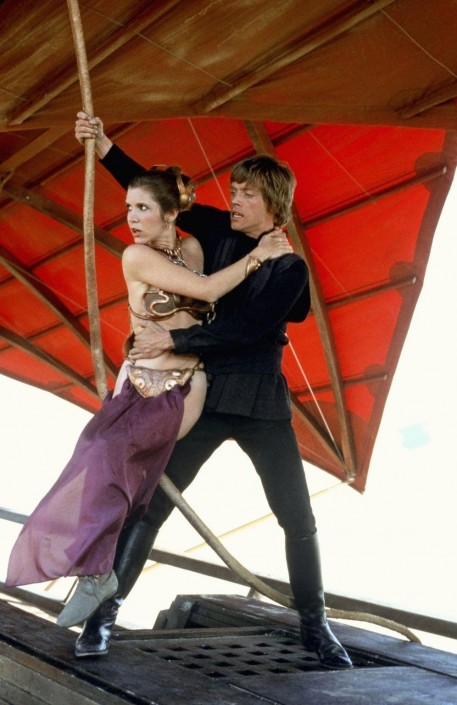 Still Of Carrie Fisher And Mark Hamill In Jedins Terkomst Large Picture