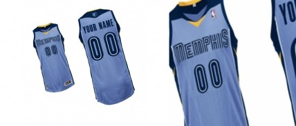 Mens Memphis Grizzlies Light Blue Big Tall Custom Authentic Alternative Jersey Sport