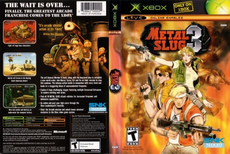 Metal Slug Ntsc Cover Sleeve Metal Slug Sleeve
