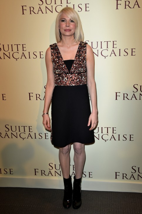 Michelle Williams Suite Francaise Premiere In Paris