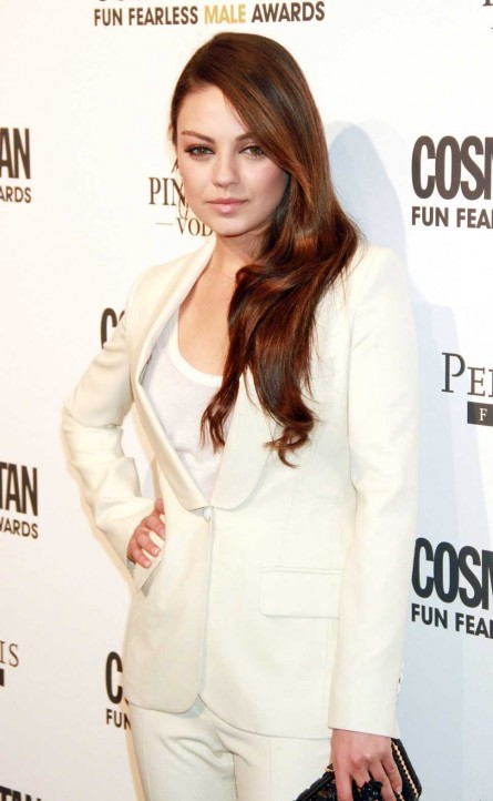 Mila Kunis Photos In White Dress