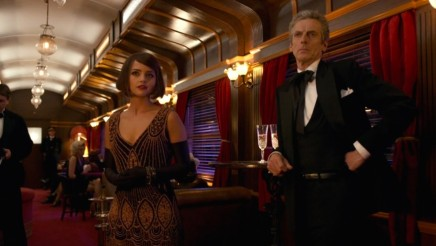 Jenna Coleman And Peter Capaldi In Mummy On The Orient Express Movie