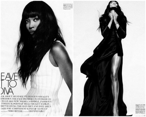 Naomi Campbell For Elle February