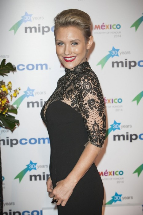 Nicky Whelan Appear At The Opening Red Carpet Party Mipcom