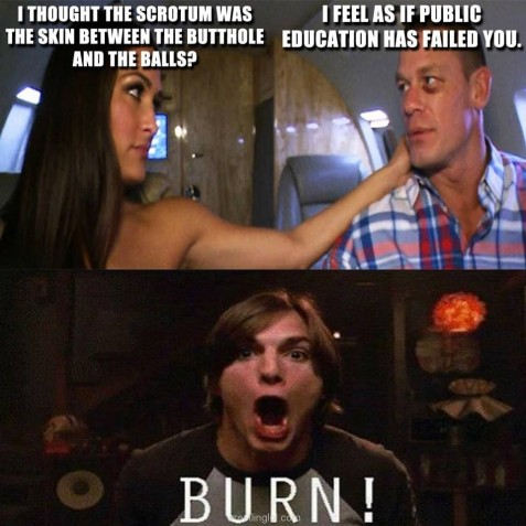 John Cena Burns Nikki Bella And John Cena