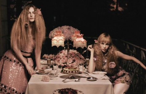Edie Campbell And Olympia Campbell By Karl Lagerfeld For Vogue Germany May Editorial