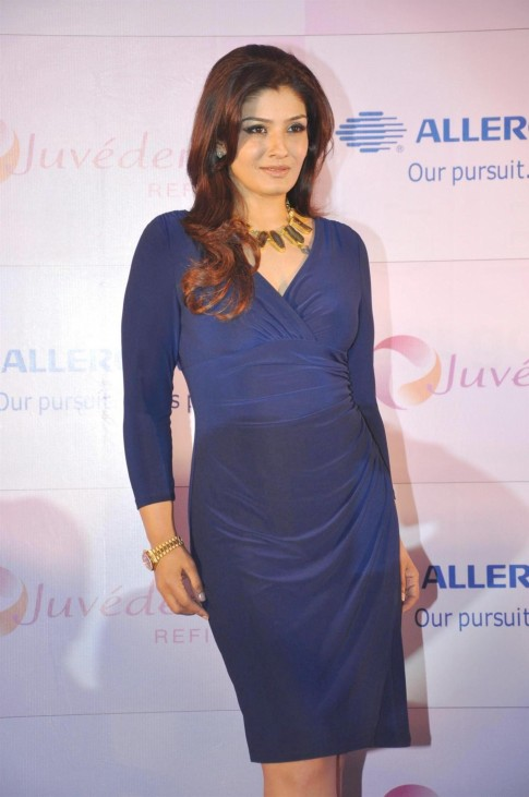 Jvzfz Grwosaxw Actress Raveena Tandon At The Launch Of Juvederm Refine In Mumbai