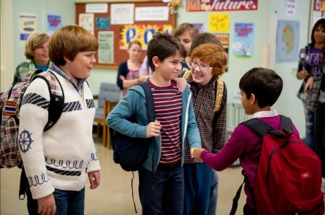 Still Of Grayson Russell Zachary Gordon Robert Capron And Karan Brar In Diary Of Wimpy Kid Rodrick Rules Large Picture Zachary Gordon