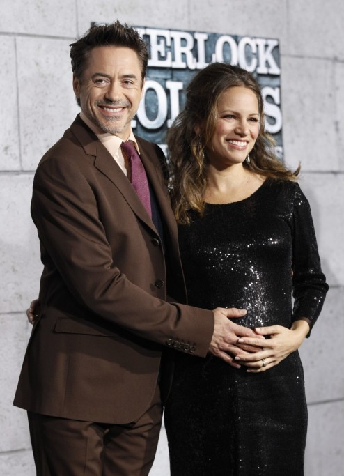 Robert Downey Jr Smiling Face Photo Wife