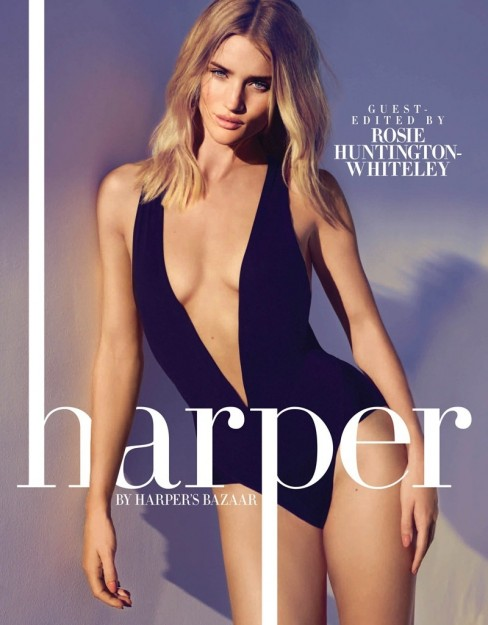 Rosie Huntington Whiteley Harpers Bazaar May