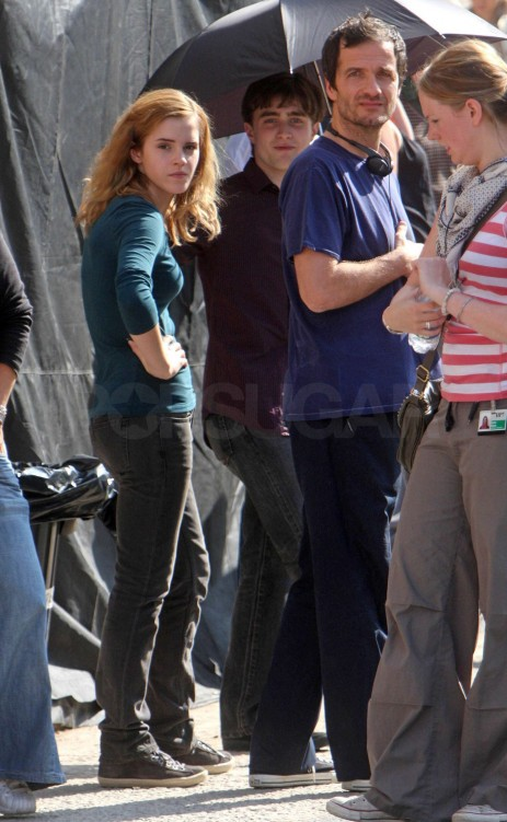 Photos Emma Watson Daniel Radcliffe Rupert Grint Set Harry Potter Deat Hallows London