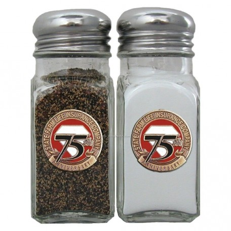 Salt And Pepper Shaker Set With Applique