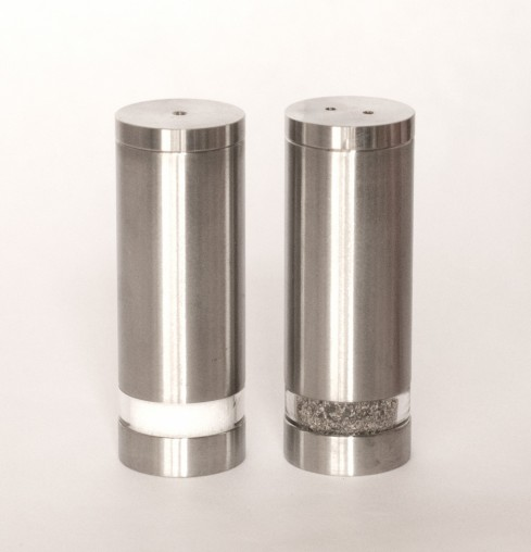 Savoy Window Stainless Steel Salt And Pepper Shakers Set