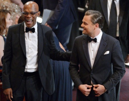 Samuel Jackson And Leonardo Dicaprio In Audience