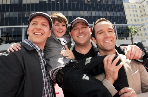 Sean Hayes Chris Diamantopoulos Will Sasso And Max Charles At Event Of The Three Stooges Chris Diamantopoulos