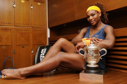 Serena Williams Poses With French Open Trophy And Drake