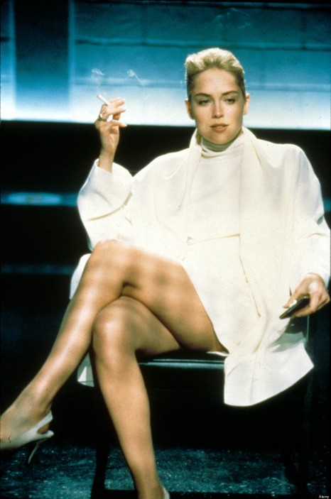 Sharon Stone White Dress