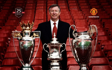 Sir Alex Ferguson The Treble Young