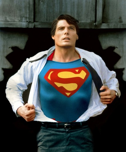 Christopher Reeve Superman Classic Photo Recently Restored Superman The Movie Movie