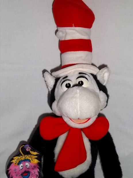 Cat In The Hat Plush Talking Dr Seuss Mattel Gink Stuffed Toy Doll Movie