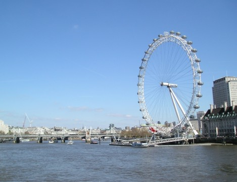 London Eye With View Of The River Thames London Eye