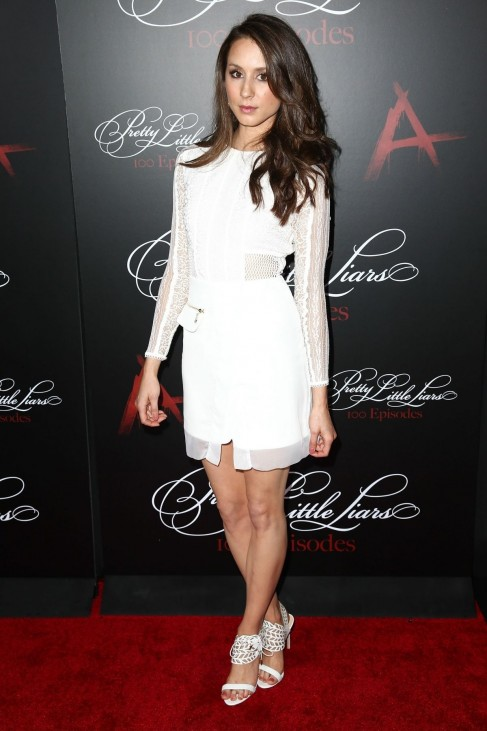 Troian Bellisario At Pretty Little Liars Th Episode Celebration In Hollywood Engaged