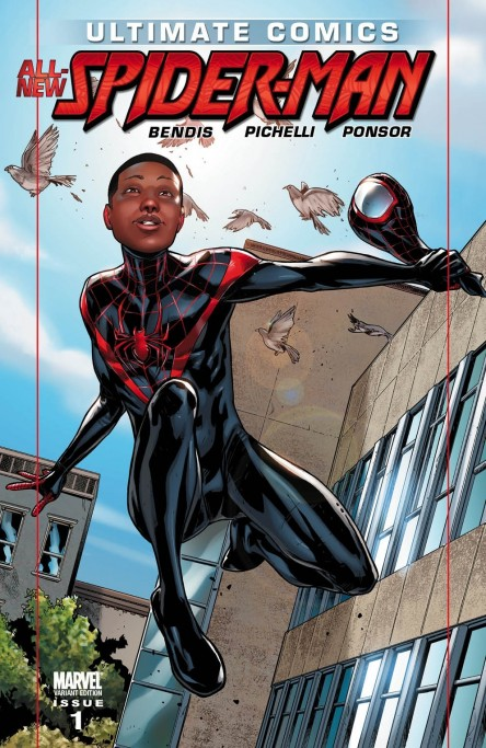 Miles Morales Ultimate Spider Man Comic Book Cover Movie