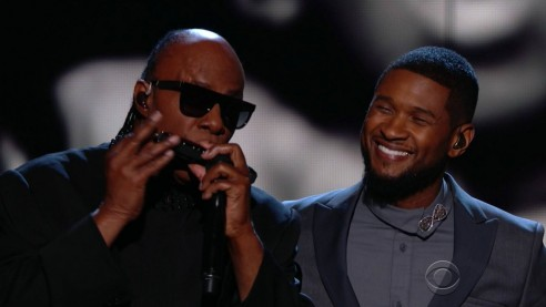 Usher Performs If Its Magic With Stevie Wonder At Grammy Awards