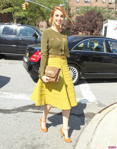 Whitney Port Hits Up Fashion Week In Colorful Frock Fashion