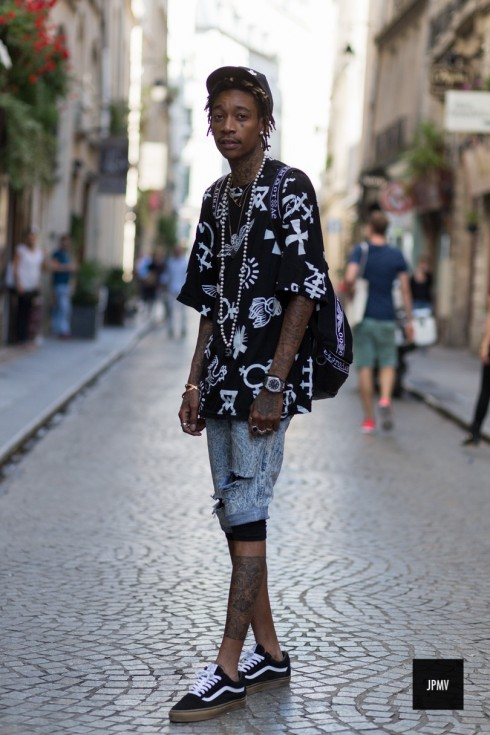 Jaiperdumaveste Jpmv Nabile Quenum Street Style Wiz Khalifa Ktz Vans Paris Fashion Week Paris Fashion Week Spring Summer