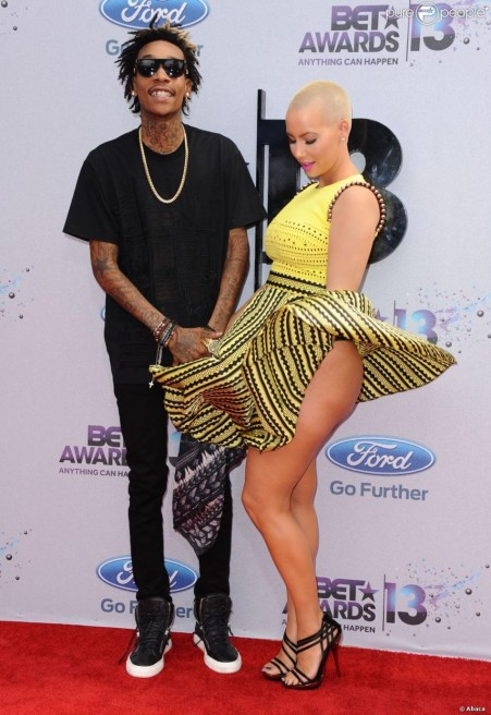 Wiz Khalifa And Amber Rose Arriving For And Amber Rose