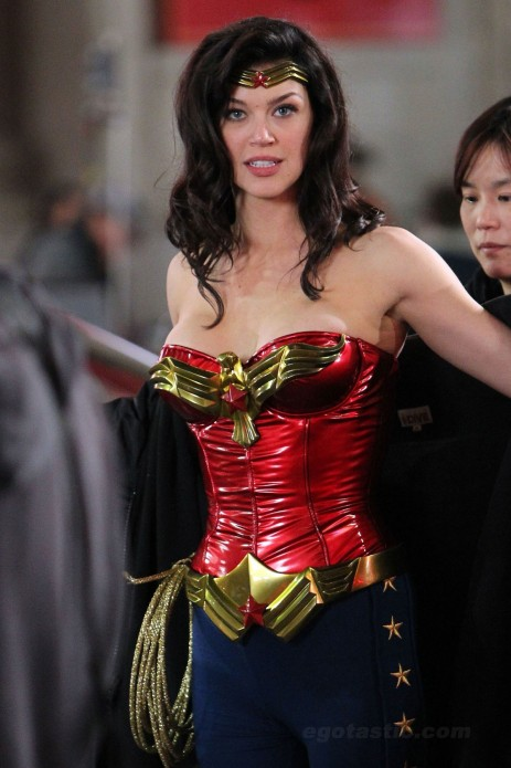 Adrianne Palicki Wonder Woman Pilot Shoot Tv