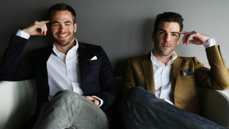 Chris Pine Zachary Quinto Wallpaper