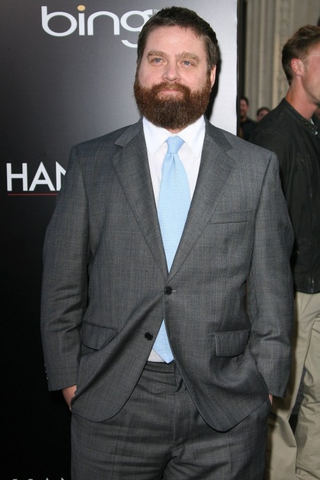 Zach Galifianakis Grey Suit Li