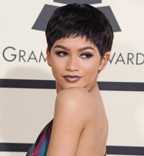 Zendaya Haircut Pixie Wig Grammys Main